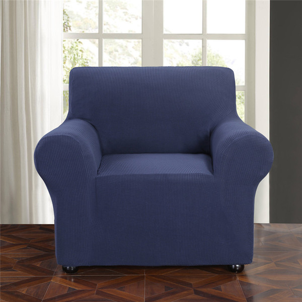 Stretch Chair Slipcover Sofa Cover Furniture Protector Cover Small Checks Jacquard Sofa Chair Covers For Living Room Cheap Dining Room Chair Covers