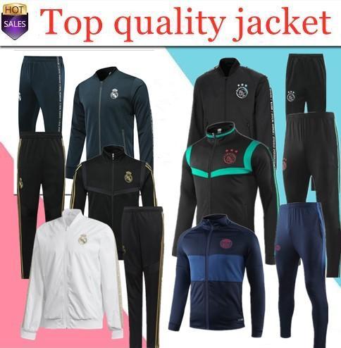 18/19PSG pink tracksuit Marseilles Paris soccer Training suit 19-20 Real Madrid tracksuits 2019 2020 MBAPPE LUCAS maillot de foot jacket kit