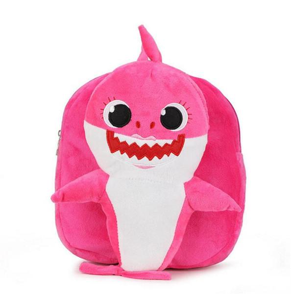 Baby Shark Backpacks Cartoon toddler Backpack School Bag Kids Children Shoulder bags Plush Kinderegarten Bags 5 colors B11