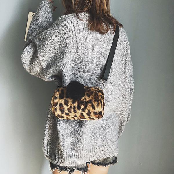 Lucky2019 Bag Baby Woman Mini- Oblique Satchel Lint Leopard Print Bucket Joker Parenting Single Shoulder Warm Hand Package