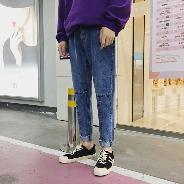 2019 Summer Men's Fashion Trend Stretch Slim Fit Male Jeans Loose Casual Pants Biker Denim Blue/grey Trousers Plus Size M-2XL