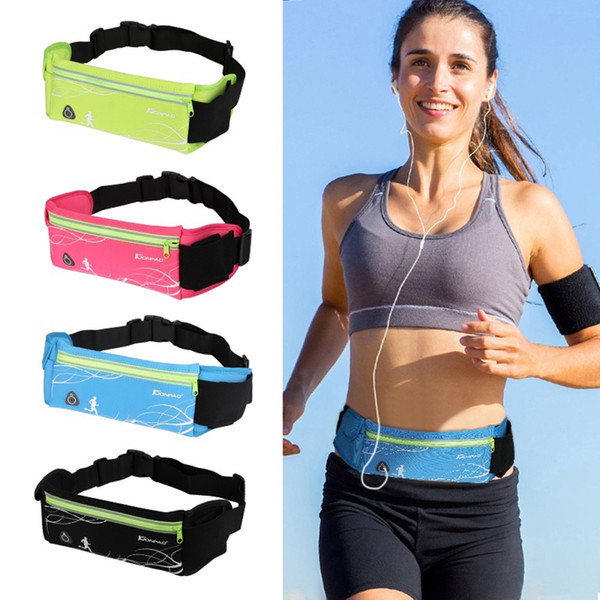 Deportes al aire libre Correr Bolsa de cintura Bolsa de bolsillo para teléfono móvil antirrobo portátil Táctica resistente al agua Bolsas invisibles