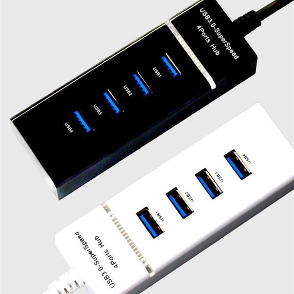 HUB USB 3.0 Répartiteur de vitesse 5 Gbps externe à 4 ports USB avec port d'alimentation micro USB pour ordinateur iMac Accessoires pour ordinateur portable 3.0