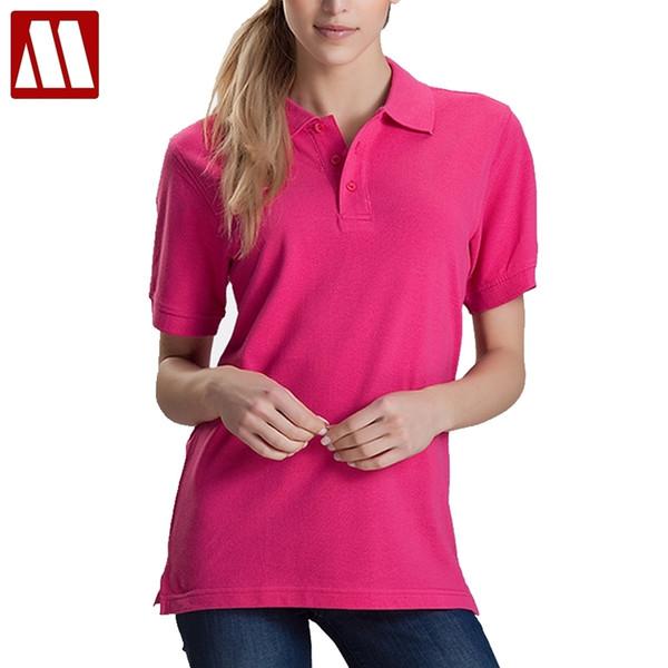 Women Men Unisex Cotton Plain Solid Black Blue Navy Red Polo Shirt Ladies Short Sleeve No Printing Polo Shirt S-3xl Shirts Tops Q190426