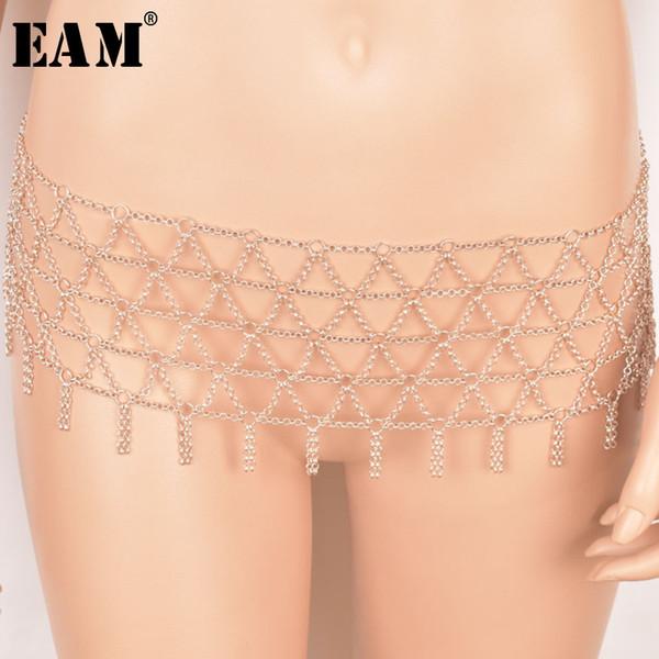 wholesale EAM Jewelry / 2019 New Fashion Temperament Rhinestone Inlaid Glass Mesh Body Chain Women's Accessories S#N48308