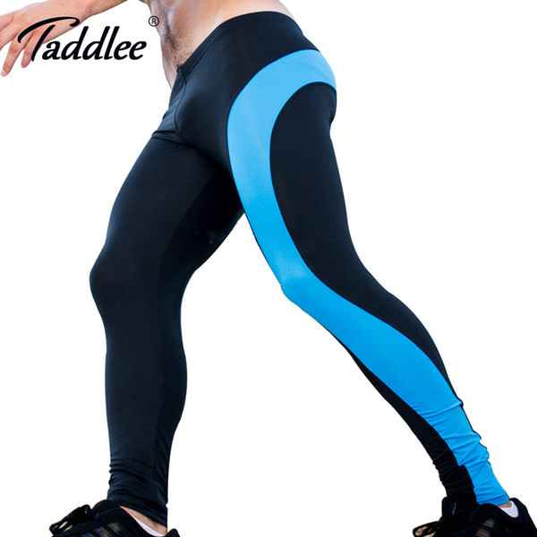 Taddlee Brand Sexy Legging Men Low Waist nylon Long Johns Sports Pants Man Tights Running Stretch Bottoms Gay Workout Active New