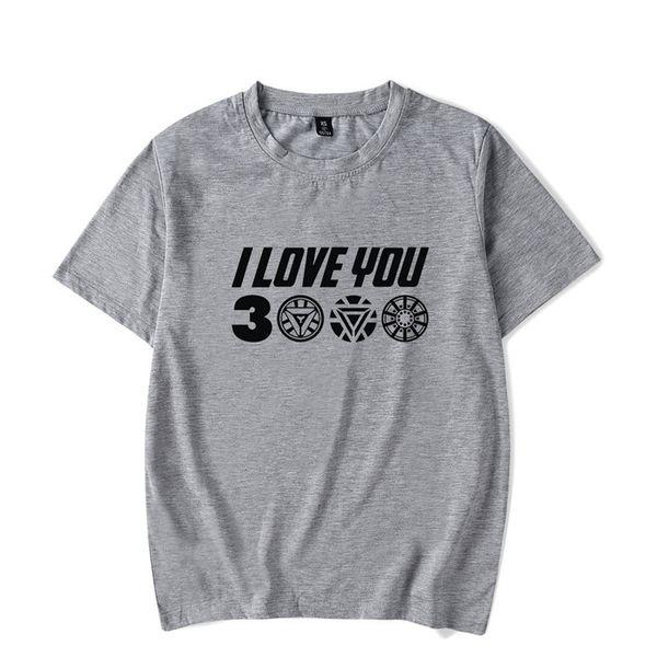 Homens Camisetas Eu Te Amo 3000 Três Mil Vezes Impressionante Algodão T Vingadores Endgame Camisetas Homem De Ferro Roupas Plus Size Z14