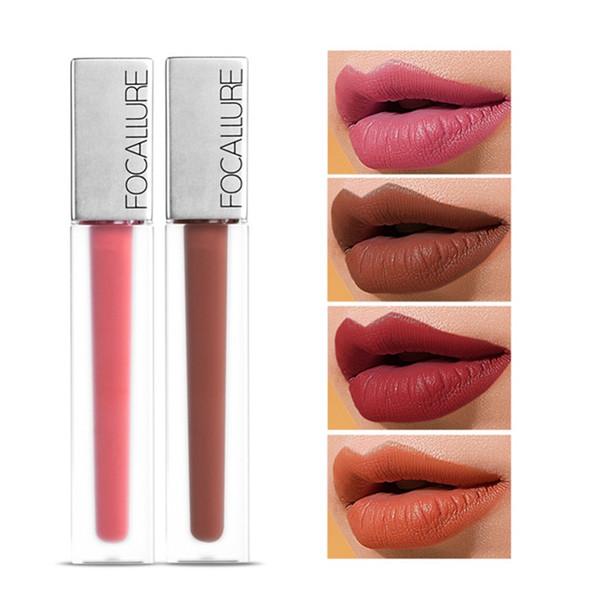 FOCALLURE Pro Matte Lipgloss Waterproof Liquid Lipstick Lip Gloss Tint Tattoo Lip Stain Nude Makeup Korean Cosmetic #289349