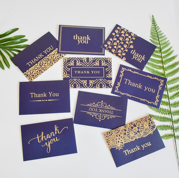 New High Quality Color Invitation Card Thanksgiving Hot Stamp Vintage Simple Thanks Festival Greeting Cards Envelope Wholesale Birthdays Card