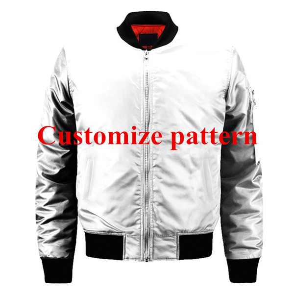 USA Size 2019 New 3d Full Printed Custom made Pattern Bomber Jackets Men Casual Thick Zip up Fly Jackets man Outerwear Coats