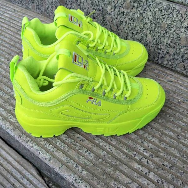 best selling Korean women's shoes casual retro blade increased thick and thick second generation subversive white shoes, fluorescent green