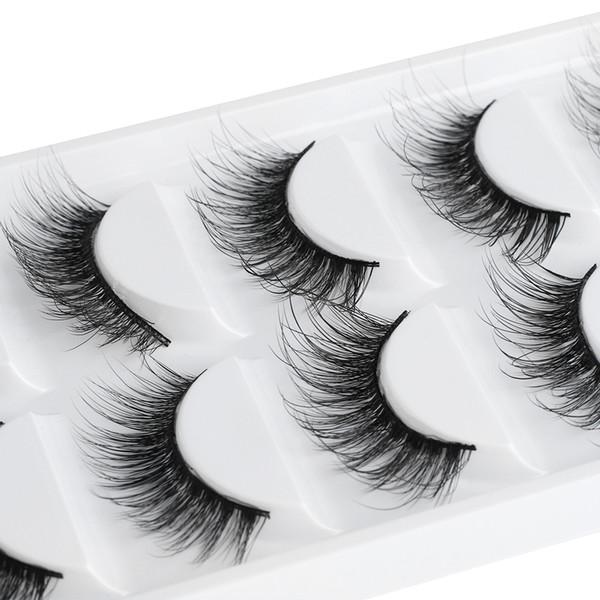 5 Pairs Natural False Eyelashes 3d Thick Longeyelash Wispy Charming Fake Eye Lashes Eyelashes Extension Makeup Tool