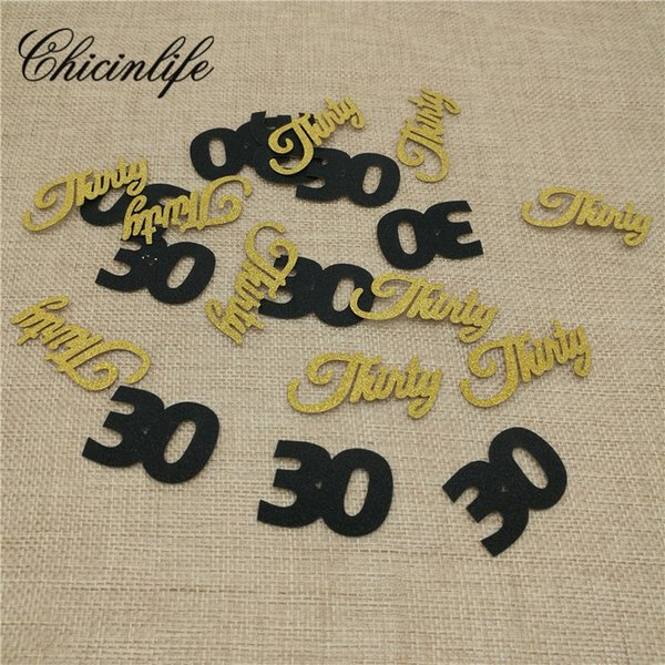 Chicinlife number 30/thirty 30th Anniversary birthday confetti happy Birthday Idea Table Confetti Party Decoration supplies