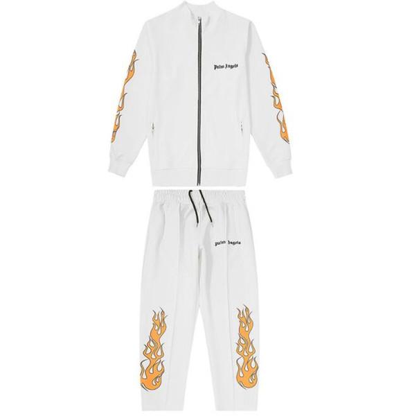 Luxus-Designer Tracksuits für Mens-Trainingsanzüge mit Palm-Engels-Druck Neue Marke Tracksuits Frühling Herren-Oberteile Hosen Kleidung S-XL