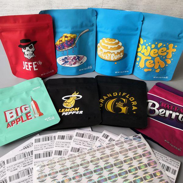 best selling 2020 newest cookies bags Cookies sf Bag Berry pie Sweet Tea Grandiflora Stickybuns Lemon Pepper JEEF og Big Apple Balla Berries cookies bags
