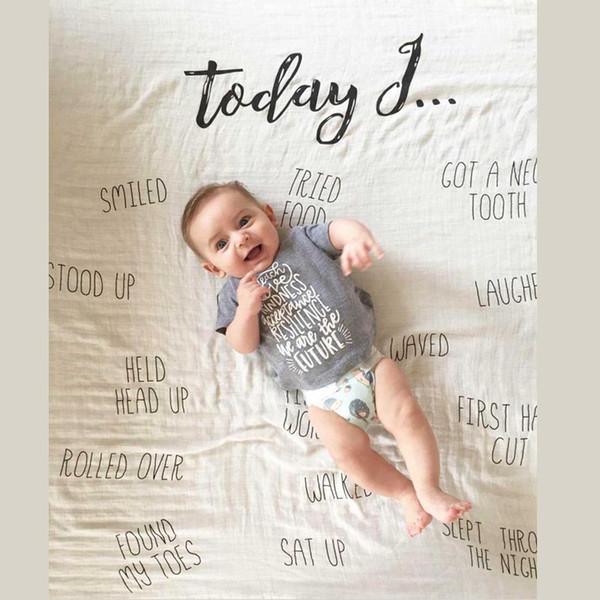 Toalha de envolvimento do bebê Cobertor De Aniversário Do Bebê de Algodão Puro Gaze Adereços Fotográficos Quatro Cores Crianças Toalha De Embalagem 4