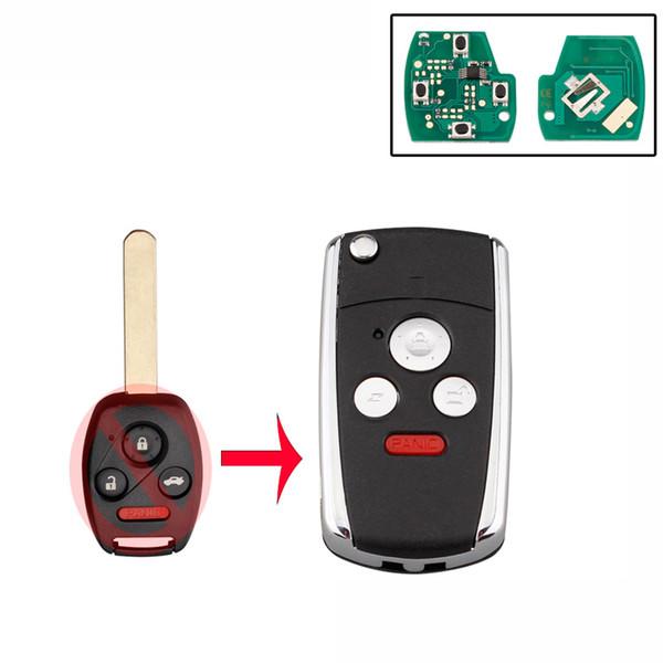 4 Düğmeler Uzaktan Araba anahtarı OUCG8D-380H-A Accord 2003-2007 Için 313.8 Mhz ID46 Çip Uzaktan kumanda