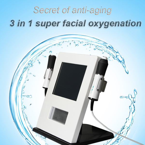 2019 Portable Super Facial 3 In 1 Skin Oxygenation Exfoliation Infusion Ultrasound Rf Machine For CO2 Skin Rejuvenation / Face Lifting
