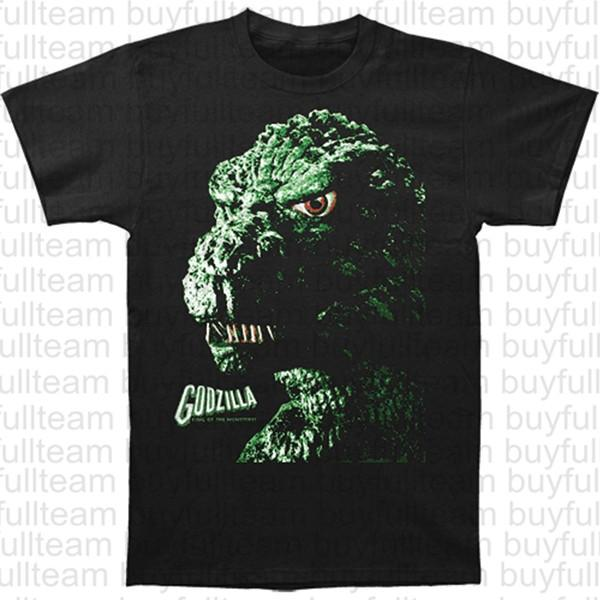 Godzilla Port Printed Cotton Casual T Shirts Mens Black Short Sleeves Tops Fashion Round Neck T Shirts Size S M L XL 2XL 3XL