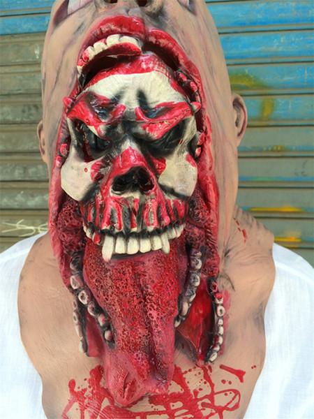 Ходячие мертвецы Halloween Party Маски Кинозвезда Костюм Аксессуар Мужчины Женщины Полнолицевые Маски Страшно Косплей