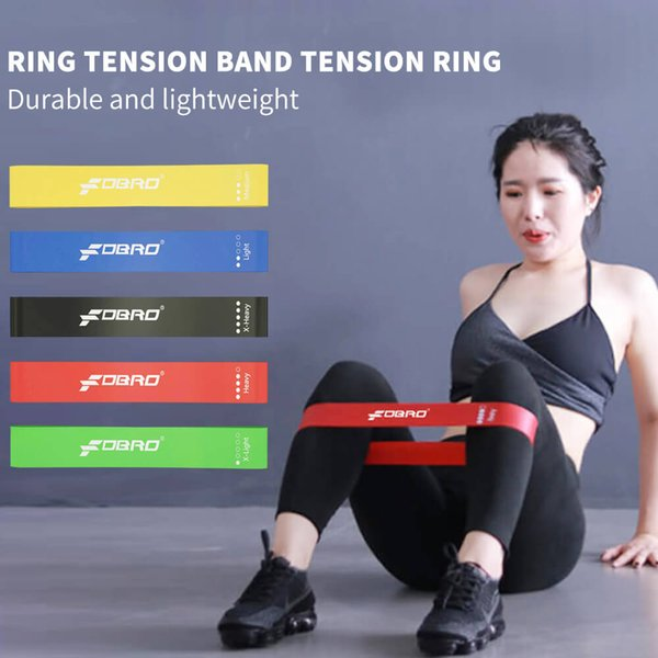 best selling FDBRO 2019 Pilates Sport Training Workout Elastic Bands Yoga Resistance Rubber Bands Indoor Outdoor Fitness Equipment 5 Color 1Set Free Ship