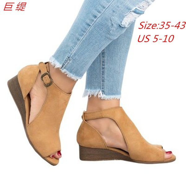 Rubber PU Leather chunky shoes Platform High Heels Fish