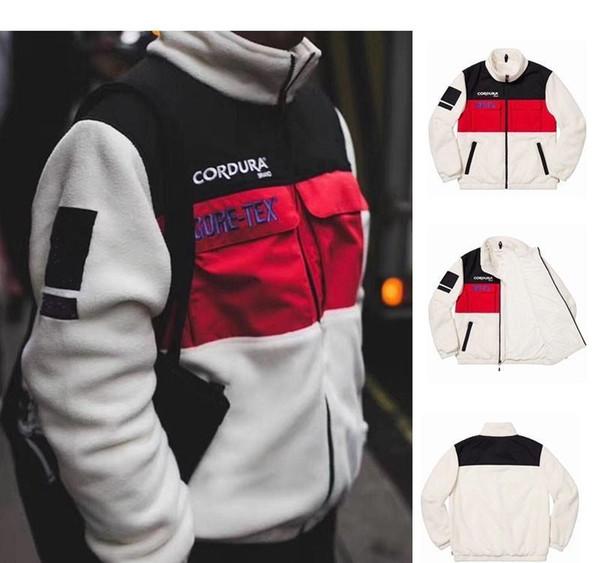 Mens giacche progettista degli uomini 2019 cappotto semplice cotone Europa e in America la corrispondenza dei colori di stampa ricamo Fleece Jacket plusXXLmoncler