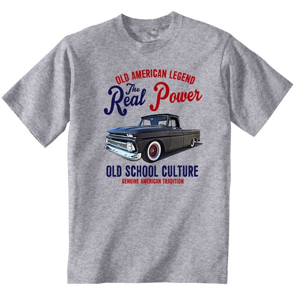 VINTAGE AMERICAN CAR CHEVY PICK UP C10 LONG BETT - NEUES T-SHIRT AUS BAUMWOLLE Größe discout hot neues T-Shirt