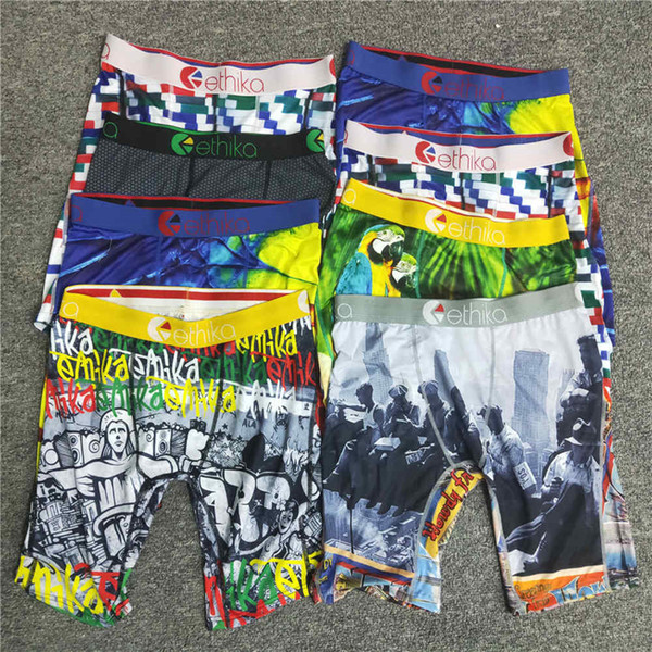 top popular ethika men boxers ethika boxers swimwear Underwear Quick Dry Graffiti Print shorts pour hommes Leggings Beach Trunks Pants 2021