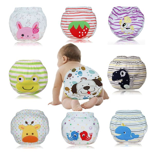 Babyfriend 6 PCS Baby Toilet Potty Training Pants Infant Toddler Reusable Training Panties Kids Cloth Diaper Panties Nappies