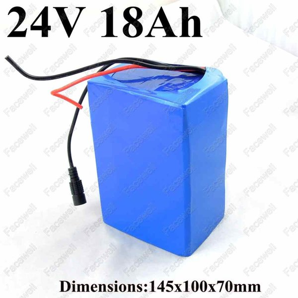 gtk 24v 18ah battery pack with bms 24v 18ah lithium li-ion e bike battery 24v 250w 350w 500w electric motor bicycle +2a charger