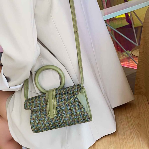 OCARDIAN Yeni Moda Kadın Çuval Dokuma Katı Renk Çanta Kadın satchels Şık Tasarımcı Omuz Çantası Messenger 2019 Jul10