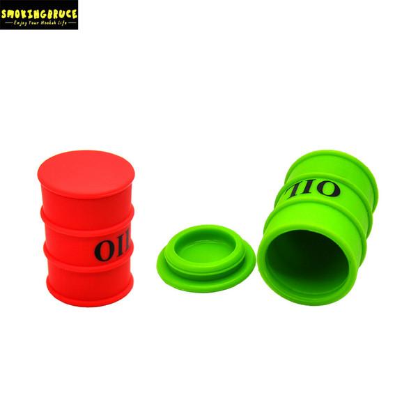 Oil Barrel Shape 27ML Non Stick FDA Silicone Container Storage Stash Jar Big Volume For Oil Rigs Glass Quartz Banger Dabber Tool Accessory