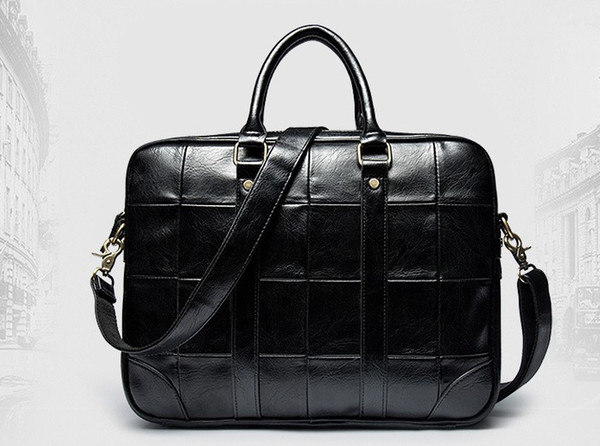 New Arrival High Quality PU Leather Man Messenger Bag Bag Set Brand Men's Briefcases Business Laptop Men Handbag
