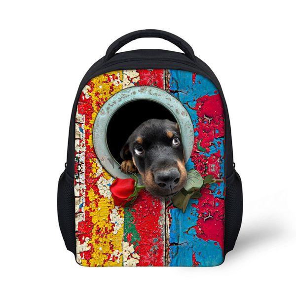 2019 dog prints schoolbags for kids,backpacks for children back packs mini book bags kindergarten girls and boys school bag