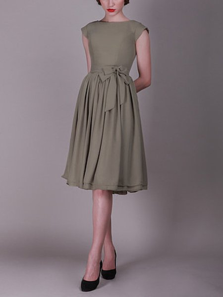 2019 spring style Pale Moss Green Tiers Ruffle knee-Length different color bridesmaid dress-flyingdress