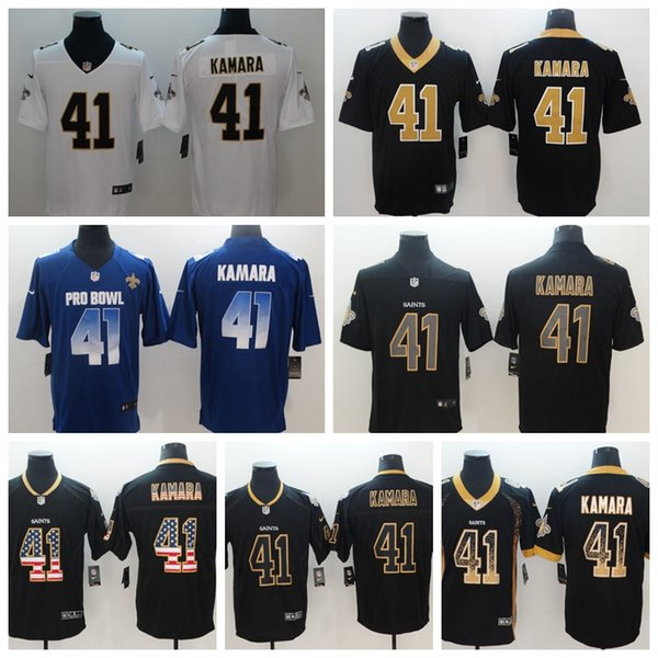 online store 058ee 9c425 Mens 41 Alvin Kamara Jersey New Orleans Saints Football Jersey Stitched  Embroidery Saints Alvin Kamara Color Rush Football Stitching Shirts Party  ...