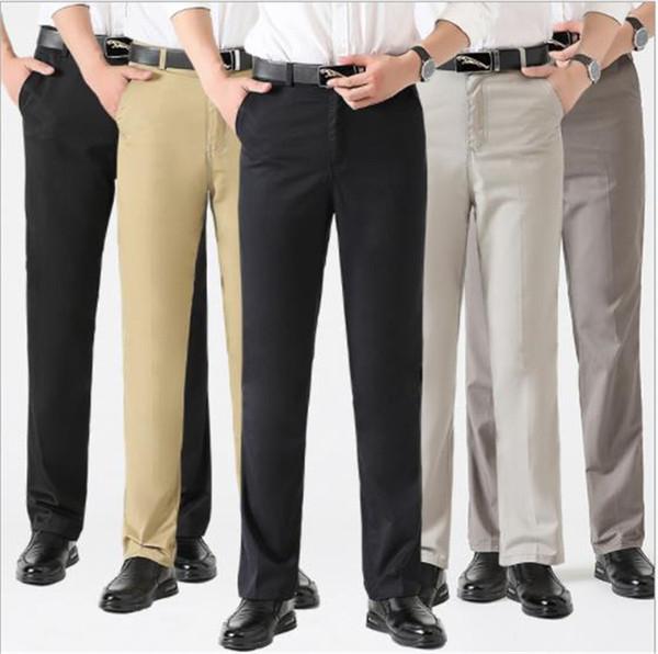 Mens High Waist Hosen Straight Tube Lose Hosen Casual Designer Straight Plus Size Lange männliche Kleidung