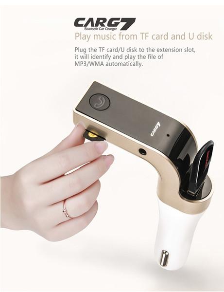 Yeni Araba FM Verici Desteği TF Kart USB Flash Sürücü Kablosuz Mp3 Çalar Handsfree Bluetooth Araç kiti Cep Telefonu USB Araç Şarj