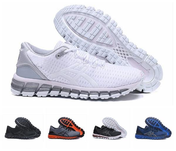 ASICS 2019 Jel-Kuantum 360 II Yeni tasarım Gri Beyaz Siyah Erkek Yastık Koşu Ayakkabıları Orijinal 2 2 s En Kaliteli Atletik Sneakers