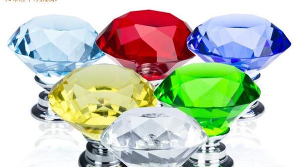 30mm Diamant Kristall Glas Türgriffe Schubladenschrank Möbel Griff Knopf Schraube Möbel Zubehör
