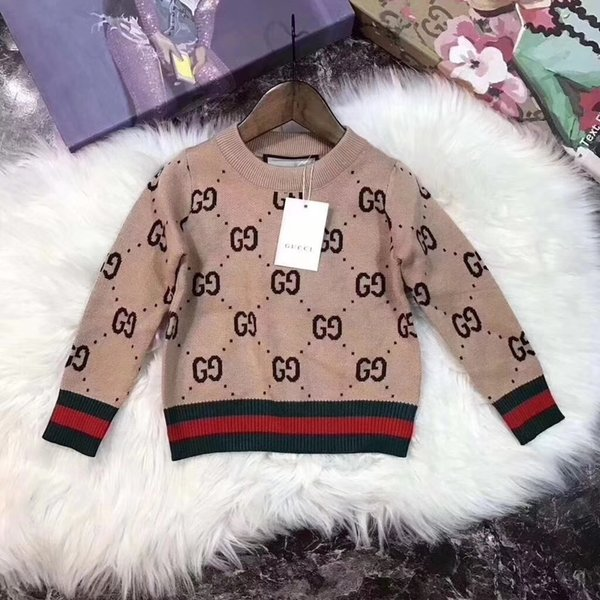 Hot Sale Boy Sweater 2019 Autumn Brand Design Knitted Pullover winter sweaters For Baby Girls Children Clothes Kids Infant Top 092004