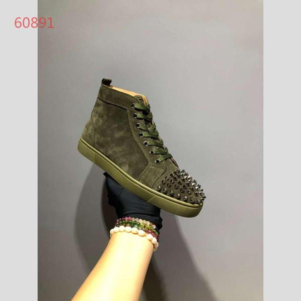 أحذية النساء الرجال في أوقات الفراغ شقة أحذية رياضية مغطاة الخضراء ربط الحذاء حتى أعلى جودة عشاق عارضة أحذية تنفس الحجم 35-46