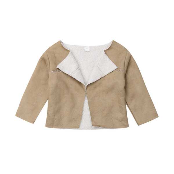 Toddler Kids Baby Girls clothes casual Faux Lambs Wool Coat Geometry Long Sleeve Geometry Warm newborn Outwear one pieces