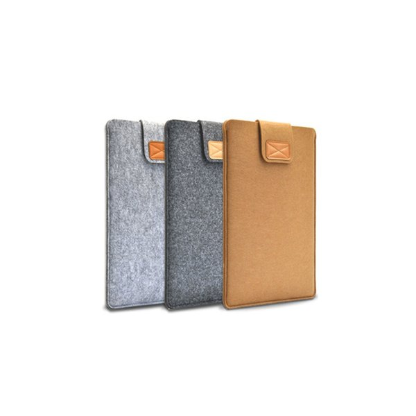 SZAICHGSI 500pcs 11 13 14 15 inch Wool Felt Inner Notebook Laptop Sleeve Bag Case Cover Carrying Handle Bag For Macbook Air/Pro/Retina