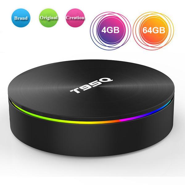 Android 8.1 TV BOX T95Q S905X2 Quad Core 4 Go 64 Go 2.4G 5.8G Double bande Wifi BT Smart Lecteur multimédia 4 Go 32 Go