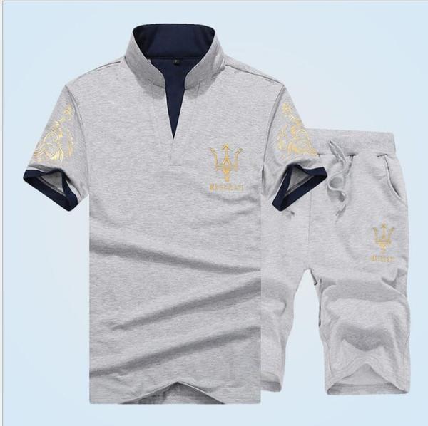 Mens Moda Esportes Treino Designer de Manga Curta Tshirt Quinta Calças 2 pcs Conjuntos de Roupas Em Execução Painéis Sportswear