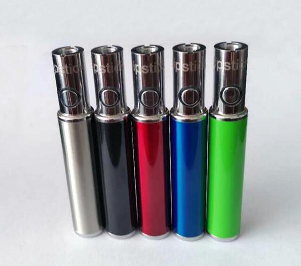 Slim óleo caneta bateria pré-aqueça bateria 510 fio vaporizador 450 mah caneta bud e cigarro USB passar através de mini cigarro e cigarro aberto fumar