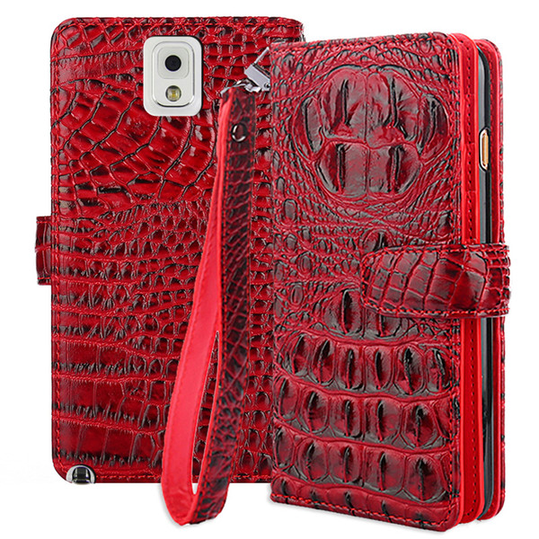 For Samsung Galaxy Note 3 Case Cover Flip Cover Crocodile PU Leather Case For Samsung Galaxy Note 3 Note3 N9005