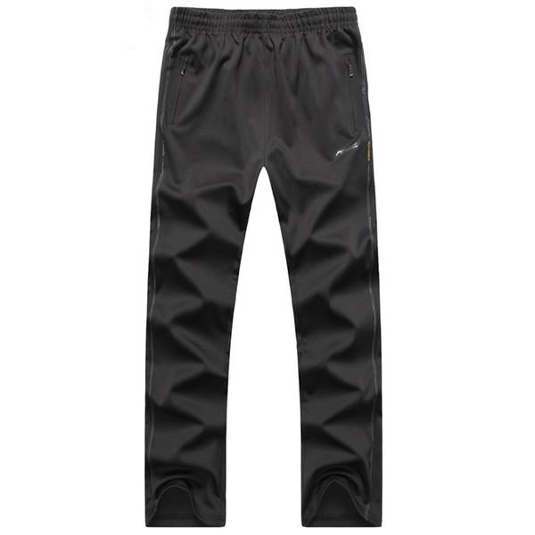 Moda-Erkekler Fitness Spor Pantolon Yeni Tasarım Gevşek Sıcak Spor Pantolon Örme Kumaş Fermuarlı Cebi Adam Sweatpants Jogging Yapan koşu Pantolon